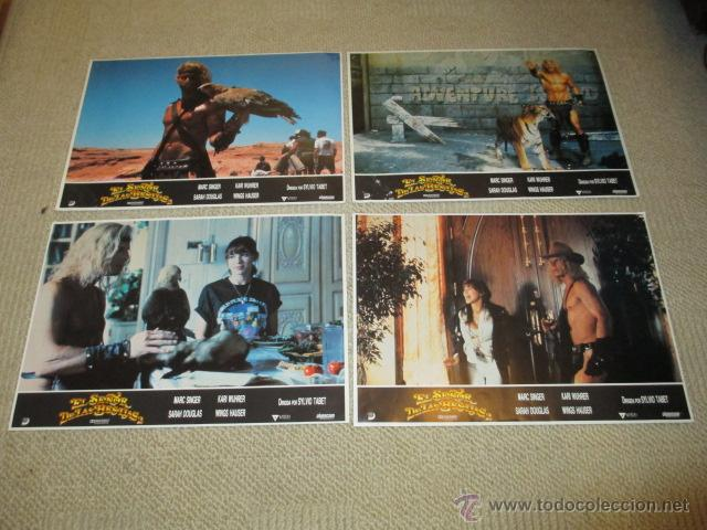 Cine: El señor de las Bestias, Marc Singer, Kari Wuhrer, por Sylvio Tabet 10 fotocromos, lobby cards - Foto 2 - 42479381