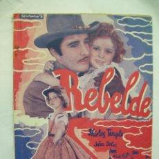 Cine: REBELDE SHIRLEY TEMPLE - LA NOVELA SEMANAL CINEMATOGRAFICA - 1930/1940 - 1ª EDICION, ED. BISTAGNE,. Lote 42484314