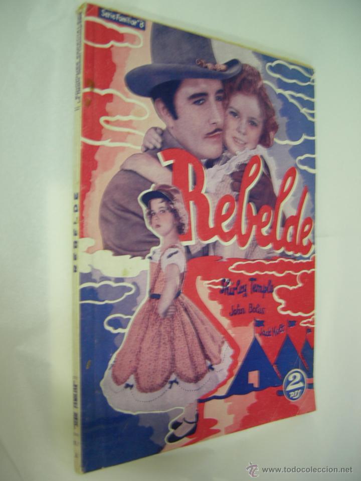 Cine: REBELDE SHIRLEY TEMPLE - LA NOVELA SEMANAL CINEMATOGRAFICA - 1930/1940 - 1ª EDICION, ED. BISTAGNE, - Foto 2 - 42484314