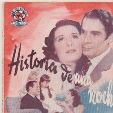 Cine: HISTORIA DE UNA NOCHE. EDIC. BISTAGNE AÑOS 40. SIN ABRIR. 72 PP. CON FOTOS DE LA PELI-. Lote 42612587