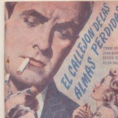 Cine: EL CALLEJÓN DE LAS ALMAS PERDIDAS. EDIC. BISTAGNE AÑOS 40. SIN ABRIR. 72 PÁGINAS -. Lote 42612637