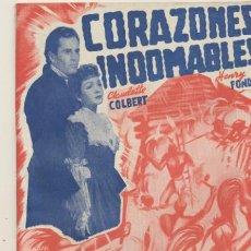 Cine: CORAZONES INDOMABLES. EDICIONES BISTAGNE. SIN ABRIR. 72 PÁGINAS CON FOTOS DE LA PELÍCULA.. Lote 42612682