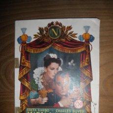 Cine: MARIA WALEWSKA. GRETA GARBO Y CHARLES BOYER. BIBLIOTECA -CINE RIALTO *. Lote 42620967