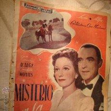 Cine: ANTIGUO FOTO FILMS PELICULA MISTERIO EN LA MARISMA, CONCHITA MONTES, AÑOS 30/40. Lote 25111132