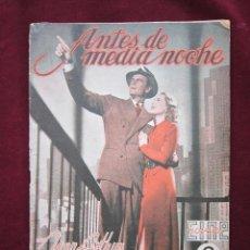 Cine: ANTES DE MEDIANOCHE. JEAN ARTHUR, JOEL MCCREA CINE-NOVELA. Nº 29. 1942. Lote 43058420