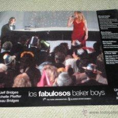 Cine: LOS FABULOSOS BAKER BOYS, JEFF BRIDGES, MICHELLE PFEIFFER, 9 FOTOCROMOS, LOBBY CARDS. Lote 43226588