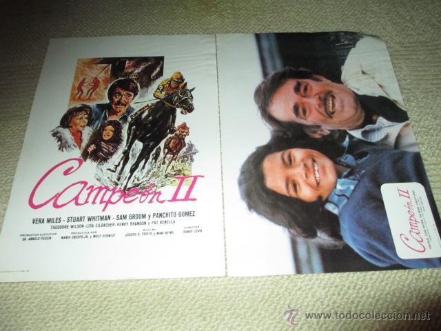 CAMPEÓN II, VERA MILES, STUART WHITMAN,PANCHITO GÓMEZ, 12 FOTOCROMOS, LOBBY CARDS HÍPICA (Cine - Foto-Films y Cine-Novelas)