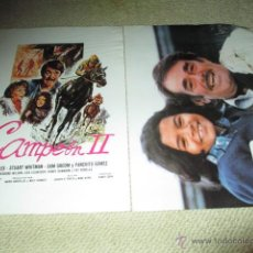 Cine: CAMPEÓN II, VERA MILES, STUART WHITMAN,PANCHITO GÓMEZ, 12 FOTOCROMOS, LOBBY CARDS HÍPICA. Lote 43226655