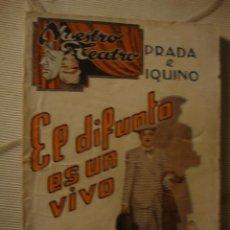 Cine: ANTIGUO LIBRETO NUESTRO TEATRO ORIGINAL AÑOS 20. Lote 43570647