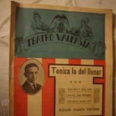 Cine: ANTIGUO LIBRETO TEATRO VALENSIÁ AÑOS. Lote 43571166