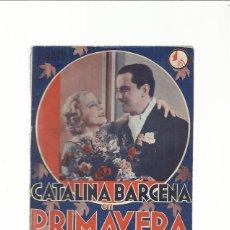 Cine: PRIMAVERA EN OTOÑO CATALINA BARCENA ED. BISTAGNE AÑOS 30. Lote 43925769