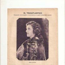 Cine: AÑO 1926 RECORTE PRENSA CINE NOVELA CINEMATOGRAFICA EL TRASATLANTICO MARIA JACOBINI. Lote 45798026