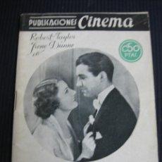 Cine: SUBLIME OBSESION. UNIVERSAL. ARGUMENTO NOVELADO CON FOTOS DEL FILM. PUBLICACIONES CINEMA. Lote 45798722