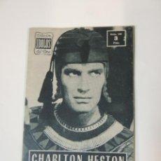 Cine: CHARLTON HESTON - COLECCION IDOLOS DEL CINE Nº 109 AÑO 1958. Lote 46452643