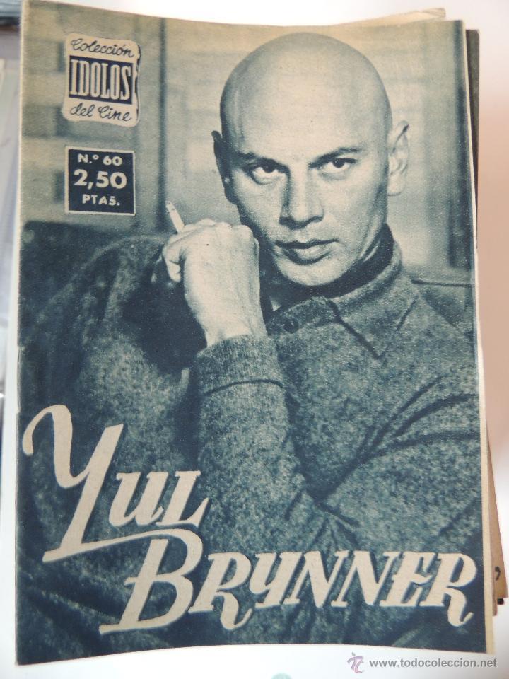 YUL BRYNNER - COLECCION IDOLOS DEL CINE Nº 60 AÑO 1958 (Cine - Foto-Films y Cine-Novelas)