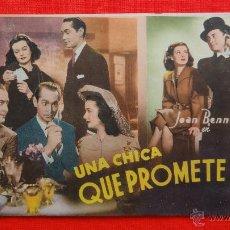 Cine: UNA CHICA QUE PROMETE, FOTONOVELA CINEVIDA, JOAN BENET, 16 PÁG. AÑOS 50. Lote 46486676