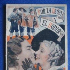 Cine: POR LA DAMA Y EL HONOR. BIBLIOTECA FILMS. MOSQUETEROS. WALTER ABEL. PAUL LUKAS. Lote 47035743