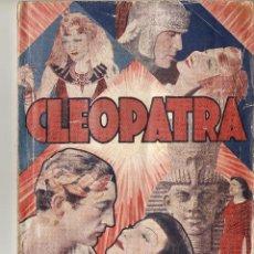 Cine: CLEOPATRA - CLAUDETTE COLBERT, WARREN WILLIAM, HENRY WILCOXON - EDICIONES BIBLOTECA FILMS. Lote 47425415