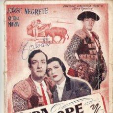 Cine: SEDA, SANGRE Y SOL - JORGE NEGRETE, GLORIA MARÍN - EDICIONES BIBLIOTECA FILMS. Lote 47430304
