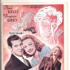 Cine: NOVELA CRIMEN O SUICIDIO – ED. ALAS – PAUL KELLY-VIRGINIA GREY. Lote 47783183