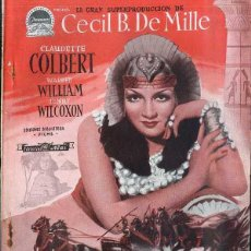Cine: CECIL B. DE MILLE : CLAUDETTE COLBERT - CLEOPATRA. Lote 55555304