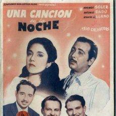 Cine: TRIO CALAVERAS : UNA CANCION EN LA NOCHE. Lote 48264048