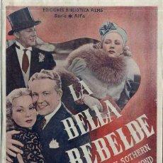 Cine: ANN SOTHERN / GENE RAYMOND : LA BELLA REBELDE. Lote 48264086