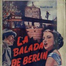 Cine: GERT FROBE : LA BALADA DE BERLIN. Lote 48264467