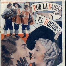 Cine: WALTER ABEL : POR LA DAMA Y EL HONOR (LOS TRES MOSQUETEROS). Lote 48264497