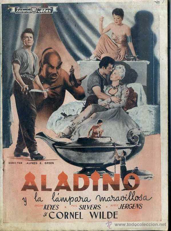 CORNEL WILDE : ALADINO Y LA LÁMPARA MARAVILLOSA (Cine - Foto-Films y Cine-Novelas)