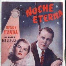 Cine: HENRY FONDA : NOCHE ETERNA. Lote 48264627