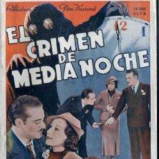 Cine: RAMON PEREDA / JUAN TORENA : EL CRIMEN DE MEDIANOCHE. Lote 48264799
