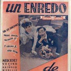 Cine: MERCEDES VECINO / ANTONIO MURILLO : UN ENREDO DE FAMILIA. Lote 48264909