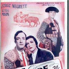 Cine: JORGE NEGRETE : SEDA, SANGRE Y SOL. Lote 193947785