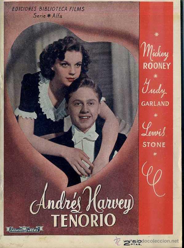 MICKEY ROONEY / JUDY GARLAND : ANDRES HARVEY TENORIO (Cine - Foto-Films y Cine-Novelas)