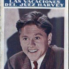Cine: MICKEY ROONEY : LAS VACACIONES DEL JUEZ HARVEY. Lote 48265604