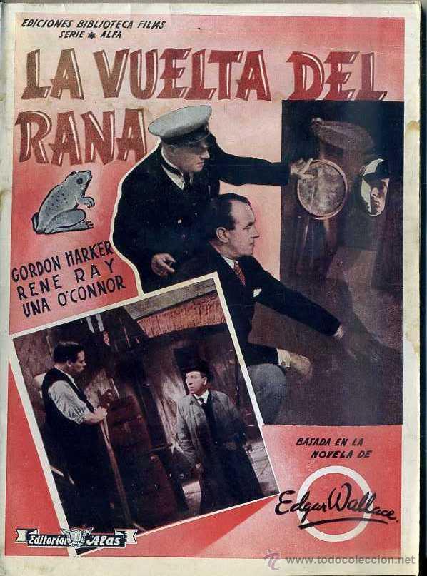 G. HARKER : LA VUELTA DEL RANA - BASADA EN UNA NOVELA DE EDGAR WALLACE (Cine - Foto-Films y Cine-Novelas)