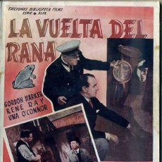 Cine: G. HARKER : LA VUELTA DEL RANA - BASADA EN UNA NOVELA DE EDGAR WALLACE. Lote 48265650
