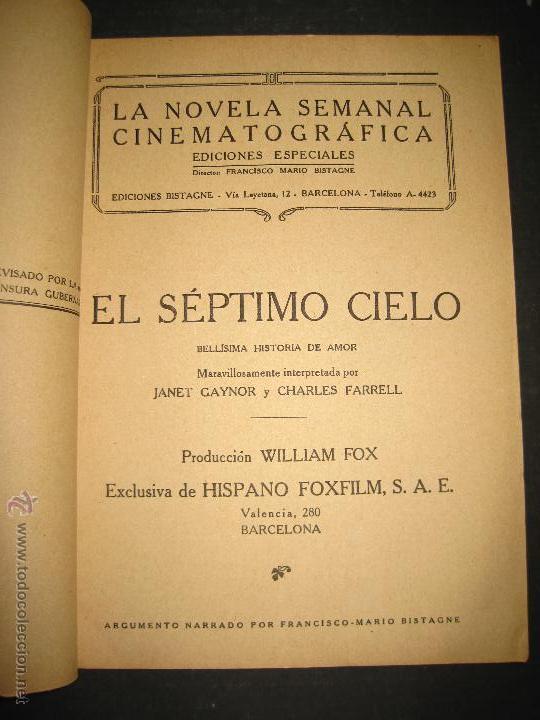 Cine: EL SEPTIMO CIELO - CHARLES FARRELL - JANET GAYNOR - EDICIONES BISTAGNE - VER FOTOS - Foto 2 - 48285876