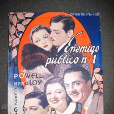 Cine: ENEMIGO PUBLICO Nº 1 - WILLIAM POWELL - MYRNA LOY - CLARK GABLE - EDITORIAL ALAS - VER FOTOS. Lote 48287254