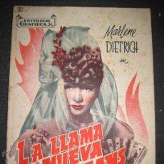 Cine: LA LLAMA DE NUEVA ORLEANS - MARLENE DIETRICH - EDITORIAL GRAFIDEA - VER FOTOS. Lote 48287340