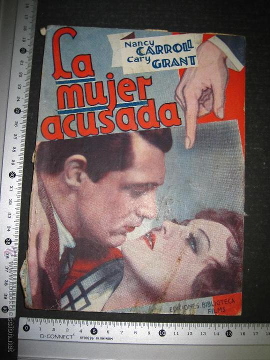 Cine: LA MUJER ACUSADA - CARY GRANT - NANCY CARROLL - EDITORIAL ALAS - VER FOTOS - Foto 9 - 48287726