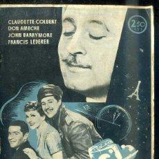 Cine: CLAUDETTE COLBERT - DON AMECHE : MEDIANOCHE. Lote 48511245