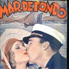 Cine: GEORGE O'BRIEN - MARION LESSING : MAR DE FONDO. Lote 48511673