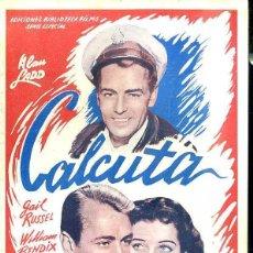 Cine: ALAN LADD : CALCUTA. Lote 48512324