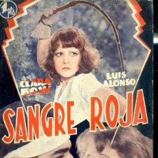 Cine: CLARA BOW - LUIS ALONSO : SANGRE ROJA. Lote 48512411