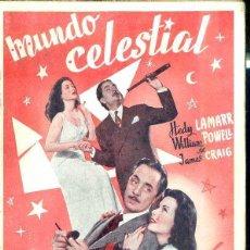 Cine: HEDY LAMARR - WILLIAM POWELL : MUNDO CELESTIAL. Lote 48512537