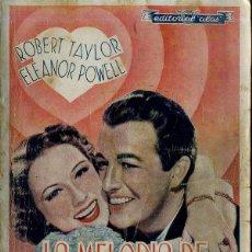 Cine: ROBERT TAYLOR - ELEANOR POWELL : LA MELODIA DE BROADWAY 1938. Lote 228382270