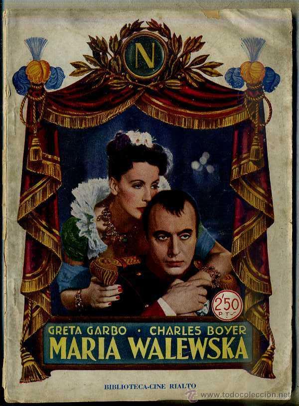 GRETA GARBO : MARIA WALEWSKA (Cine - Foto-Films y Cine-Novelas)