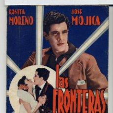 Cine: LAS FRONTERAS DEL AMOR, CON JOSÉ MOJICA. NOVELILLA.. Lote 48863238
